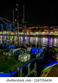 OBAN / SCOTLAND - OCTOBER 07 2018 - Fishing vessel anchoring at Oban bay
