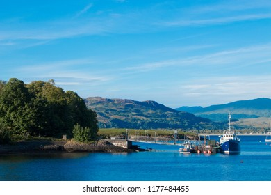 Oban in Scottish Gaelic meaning The Little Bay is a resort town within the Argyll and Bute council area of Scotland united kingdom europe