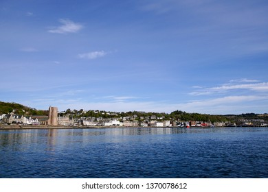 Oban in the Scottish Highlands seen from the water