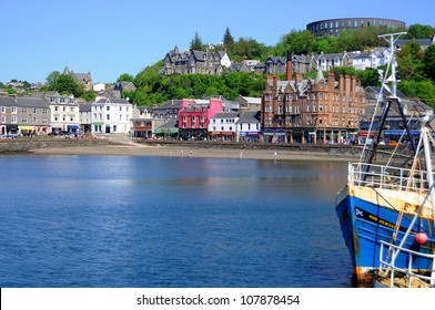 OBAN,SCOTLAND-MAY 27: The beautiful city of Oban in Argyll, Scotland, UK May 27 2012. Oban is a resort town within the Argyll and Bute council area of Scotland.
