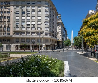 Obelisk and Lavalle Square in Downtown Buenos Aires - Buenos Aires, Argentina