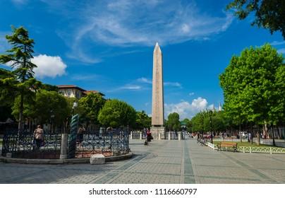Obelisk and Obelisk Square, Istanbul, Sultanahmet - Turkey