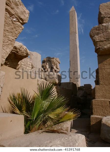 Obelisk in the temple complex of Karnak