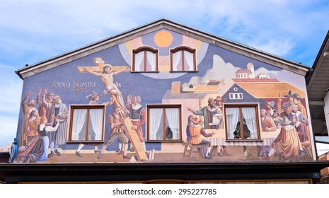 Oberammergau Germany Decorated Passion Play Painted House