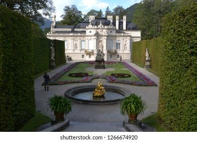Oberammergau/Germany - September 27, 2011: Park near Linderhof Palace