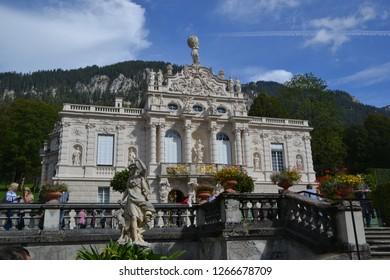 Oberammergau/Germany - September 27, 2011: Part of Linderhof Palace