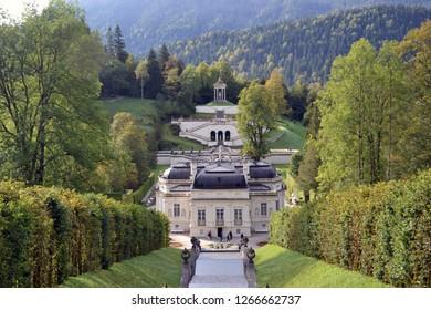 Oberammergau/Germany - September 27, 2011: View of Linderhof Palace