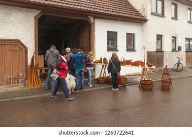 Oberdigisheim,Germany- Sept.01,2018: People at1250 years celebration in Oberdigisheim - Image