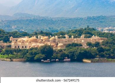 The Oberoi Udaivilas or Udai Vilas Udaipur Hotel near Pichola lake in Udaipur, India