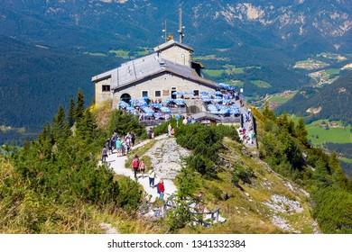 OBERSALZBERG, GERMANY - SEPTEMBER 10, 2018: The Kehlsteinhaus (Eagle's Nest), Kehlstein, Obersalzberg, Berchtesgaden, Germany