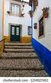 Obidos city in the Portugal