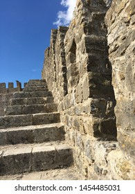 OBIDOS, PORTUGAL - October 20, 2018 - The Castle of Obidos (Castelo de Obidos) is a well preserved medieval palace in the town of Obidos in Western Portugal.