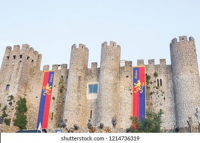 Obidos/Portugal - 08/02/2018: medieval castle of obidos, portugal