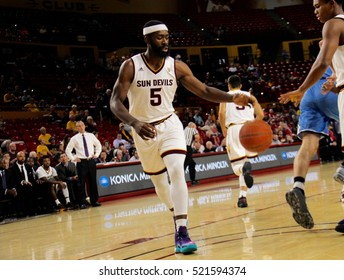 OBINNA OLEKA forward for the Arizona State University Sun Devils at Wills Fargo Arena in Tempe Arizona USA November 23,2016.