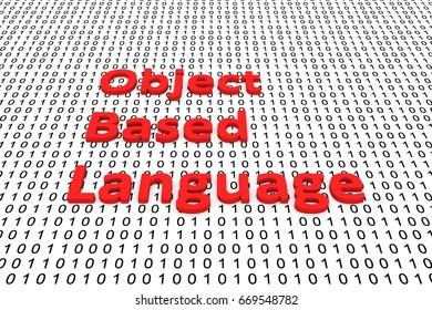 Object based language binary code 3D illustration