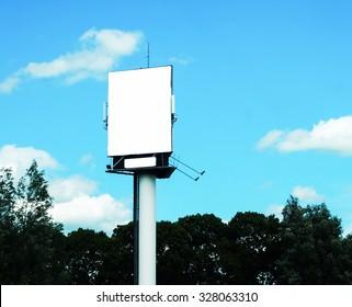 object billboard background blue sky
