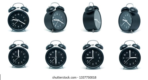 "2-SETS-LARGE Clock Numbers 3-6-9-12 Wall clock 3/"" high Black Modern USA made"