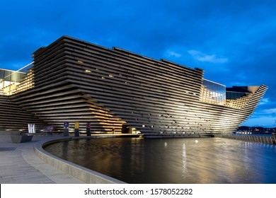 [object ObDundee, Tayside, Scotland - September 22, 2018: The V&A Dundee is a design museum located in Dundee, Scotland designed by Kengo Kuma, which opened on 15 September 2018.ject]