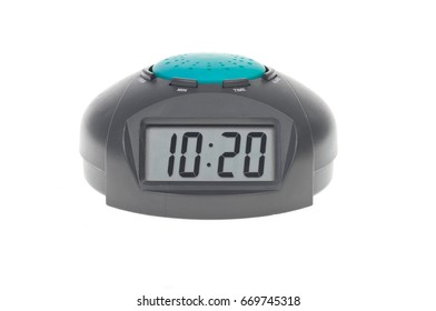 Object on white electronic clock