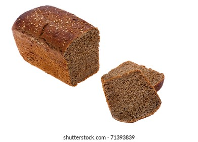 object on white - food black bread