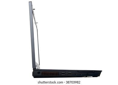 object on white - laptop isolated on white background