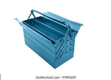 object on white - metal tool box