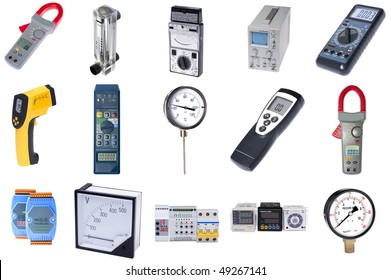 object on white - tool current measuring instrument
