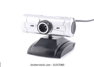 object on white - web camera for pc
