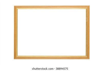 object on white - wooden picture frame