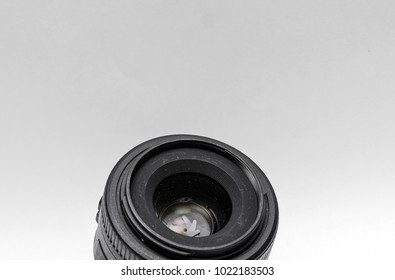 Objective for the camera. Dusty lens