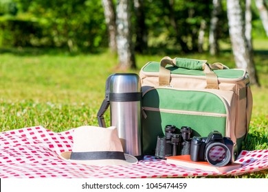 objects for recreation and picnic in nature in the park