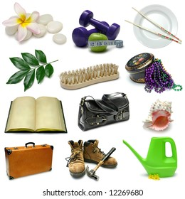 Objects Sampler with clipping paths