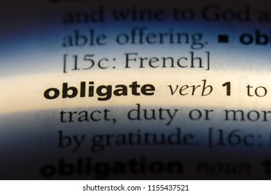 obligate word in a dictionary. obligate concept.