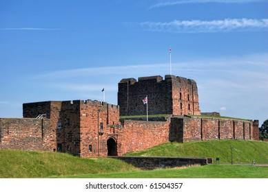 An oblique view of Carlisle Castle, Cumbria, Northern England