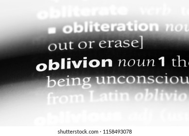 oblivion word in a dictionary. oblivion concept.