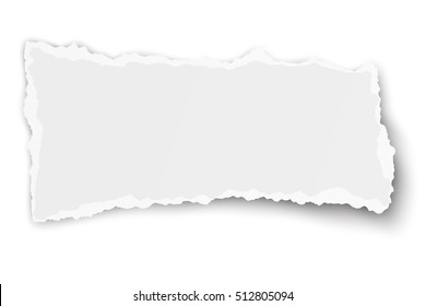 Oblong square paper tear with soft shadow