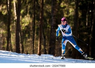 "OBNINSK, RUSSIA - MARCH 8: The tournament ""Doktorskaya gonka"" of cross country skiing on March 8, 2013 in Obninsk, Russia."