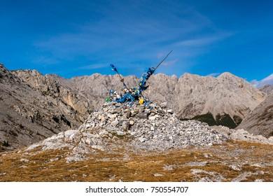 Obo on thr mountain pass in Mongolia