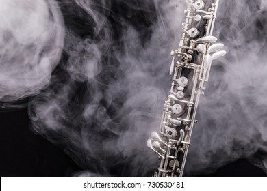 An oboe surrounded by smoke. Nr.2