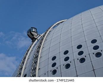 Observation capsule in Stockholm. Globen Skyview