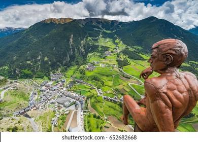 Observation deck Roc Del Quer, Andorra.