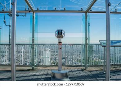 Observation desk of the Tour Montparnasse at Paris, France