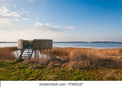 Observation point in the National Park De BIesbosch in the Netherlands (North-Brabant).