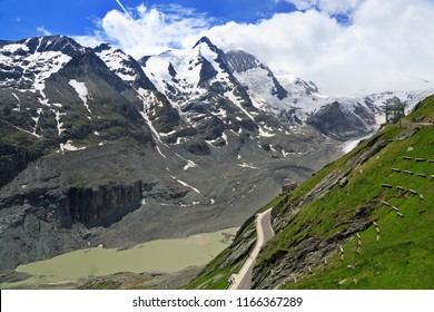 Observation Point near Kaiser-Franz-Josefs-Hoehe, with Grossglockner mountain in the background, Austrian Alps