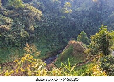 observation point of Tad Yueang Waterfall in southern Laos