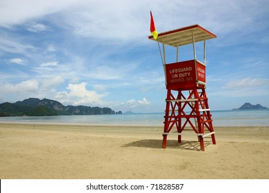 Observation tower on the beach of Thailand