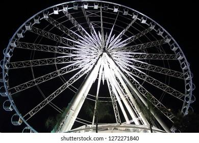 observation wheel in Asiatique, Bangkok, Thailand (night scene)