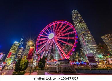 Observation Wheel, Ferris wheel in Hong Kong, Hong Kong.