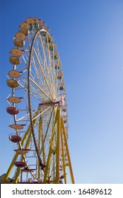 observation wheel on sunny day