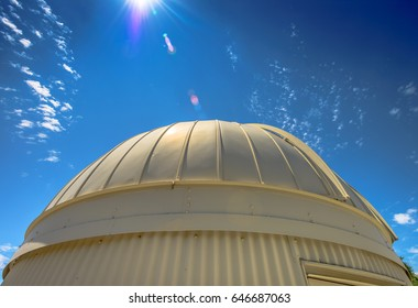 Observatory Dome With Lens Flare